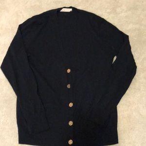 Tory Burch Navy blue cardigan